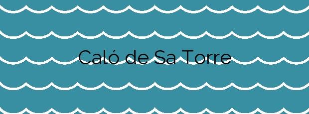 Información de la Playa Caló de Sa Torre en Santanyí