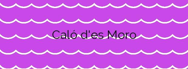 Información de la Playa Caló d'es Moro en Formentera