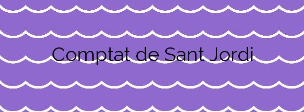 Información de la Playa Comptat de Sant Jordi en Calonge