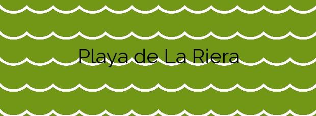 Información de la Playa de La Riera en Pineda de Mar