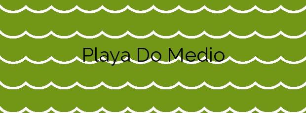 Información de la Playa Do Medio en Cangas