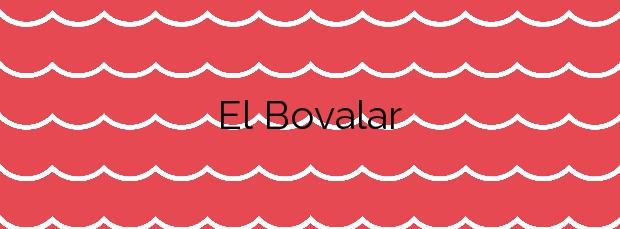 Información de la Playa El Bovalar en Nules