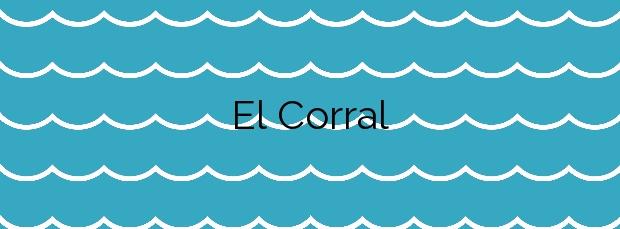Información de la Playa El Corral en Cartagena