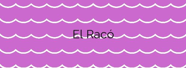 Información de la Playa El Racó en Cullera