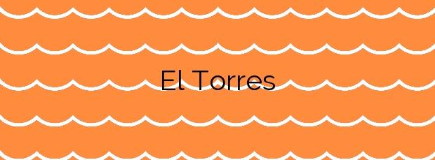 Información de la Playa El Torres en Villajoyosa