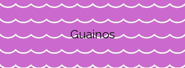 Información de la Playa Guainos en Adra