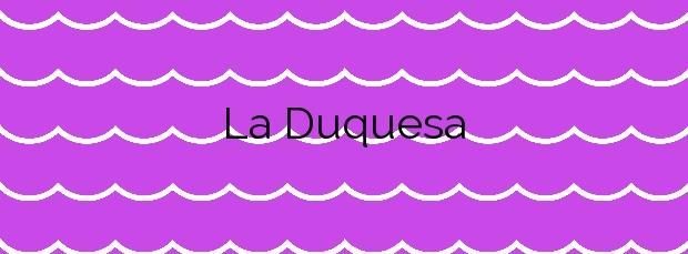 Información de la Playa La Duquesa en Manilva