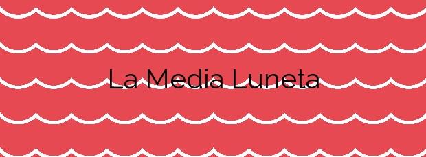 Información de la Playa La Media Luneta en Puerto Real