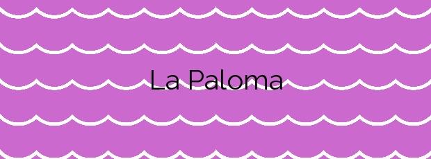 Información de la Playa La Paloma en Tapia de Casariego