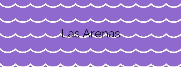Información de la Playa Las Arenas en Buenavista del Norte