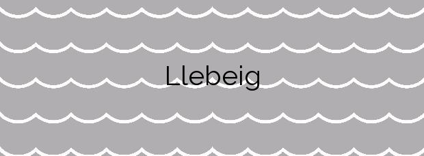Información de la Playa Llebeig en Benitachell
