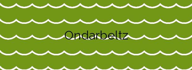 Información de la Playa Ondarbeltz en Mutriku