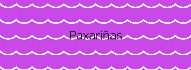 Información de la Playa Paxariñas en Sanxenxo