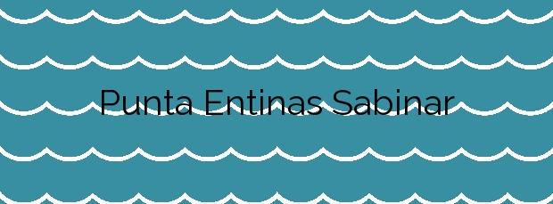Información de la Playa Punta Entinas Sabinar en El Ejido