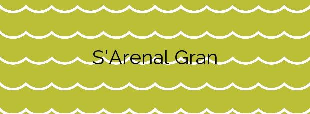 Información de la Playa S'Arenal Gran en Sant Joan de Labritja