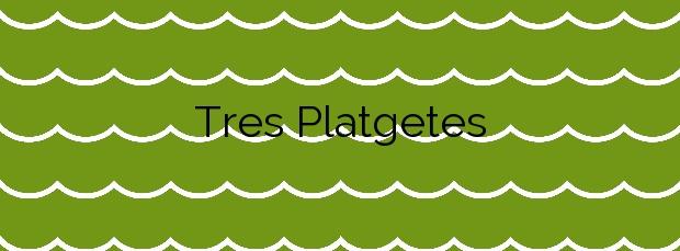 Información de la Playa Tres Platgetes en Portbou