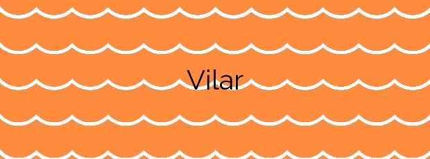 Información de la Playa Vilar en Ribeira