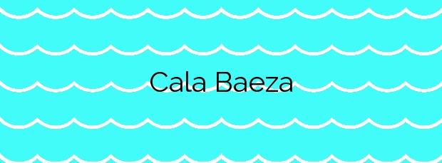 Información de la Cala Baeza en El Campello