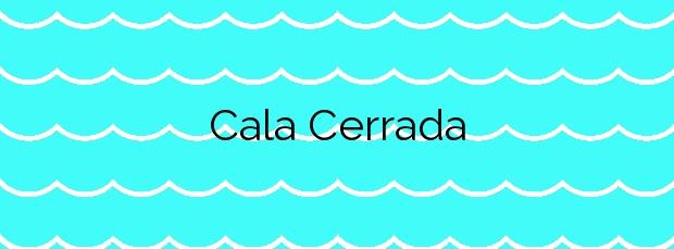 Información de la Cala Cerrada en Cartagena