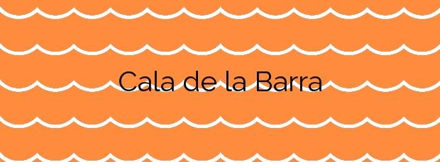 Información de la Cala de la Barra en Xàbia