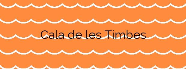 Información de la Cala de les Timbes en Vinaròs