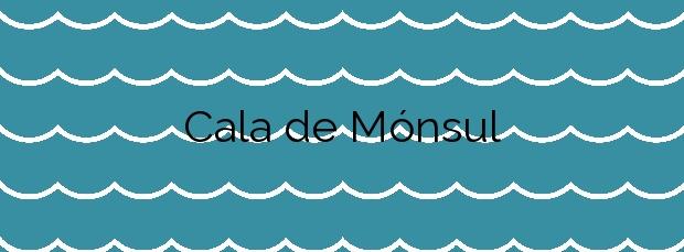 Información de la Cala de Mónsul en Níjar