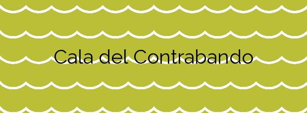 Información de la Cala del Contrabando en Cartagena