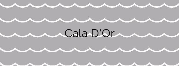 Información de la Cala D'Or en Santanyí