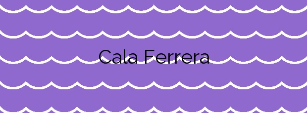 Información de la Cala Ferrera en Felanitx