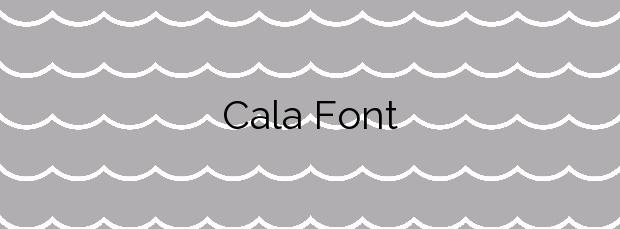 Información de la Cala Font en Salou