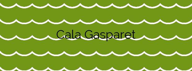Información de la Cala Gasparet en Calp