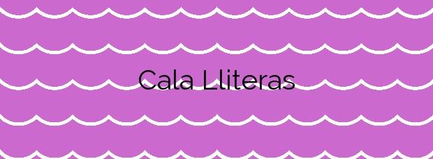 Información de la Cala Lliteras en Capdepera