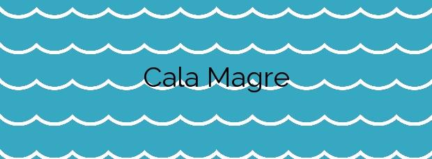 Información de la Cala Magre en Cartagena