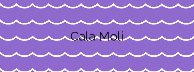 Información de la Cala Molí en Sant Josep de sa Talaia