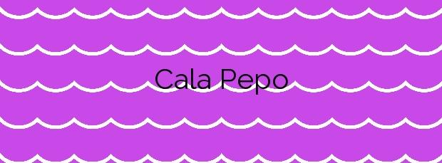 Información de la Cala Pepo en L'Ametlla de Mar