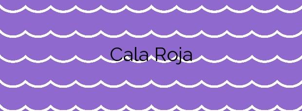 Información de la Cala Roja en Cartagena