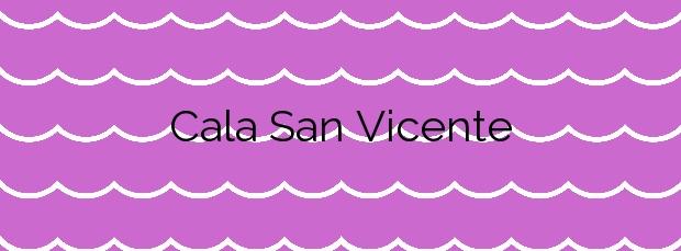 Información de la Cala San Vicente en Sant Joan de Labritja