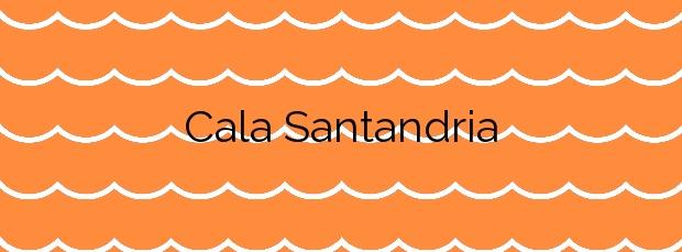 Información de la Cala Santandria en Ciutadella de Menorca