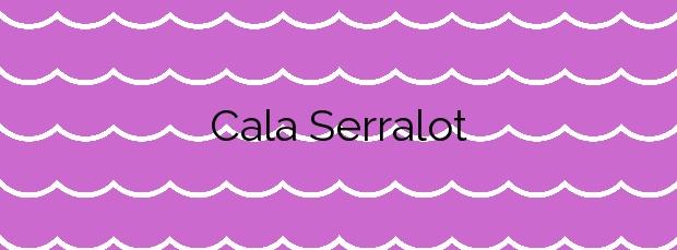 Información de la Cala Serralot en Santa Margalida