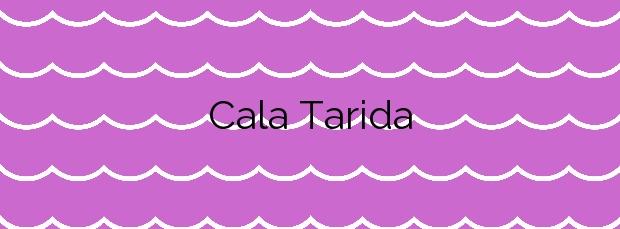 Información de la Cala Tarida en Sant Josep de sa Talaia