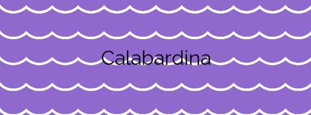 Información de la Calabardina en Águilas