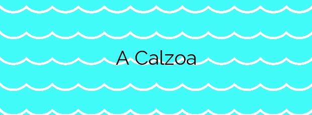 Información de la Playa A Calzoa en Vigo