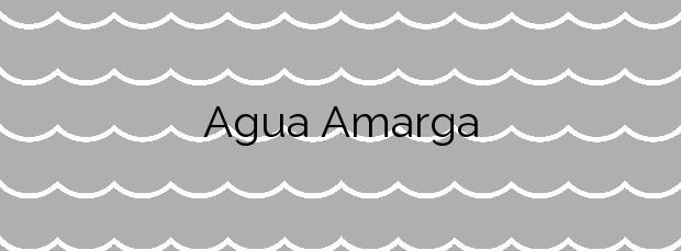 Información de la Playa Agua Amarga en Alicante