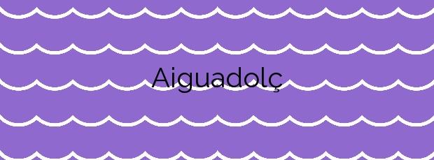 Información de la Playa Aiguadolç en Sitges