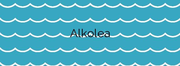 Información de la Playa Alkolea en Mutriku