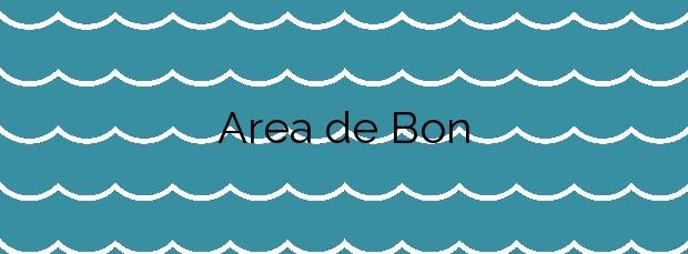 Información de la Playa Area de Bon en Bueu
