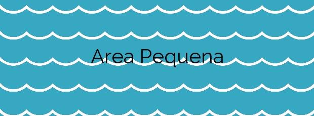 Información de la Playa Area Pequena en Cervo