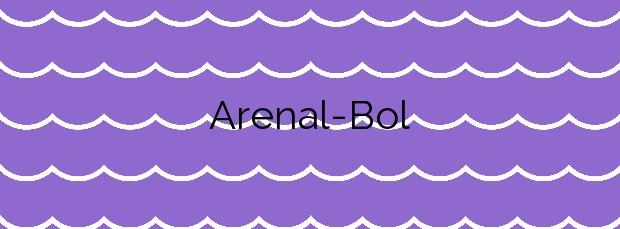Información de la Playa Arenal-Bol en Calp