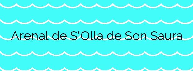 Información de la Playa Arenal de S'Olla de Son Saura en Es Mercadal