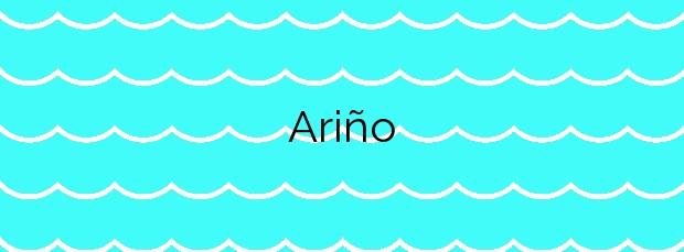 Información de la Playa Ariño en Camariñas